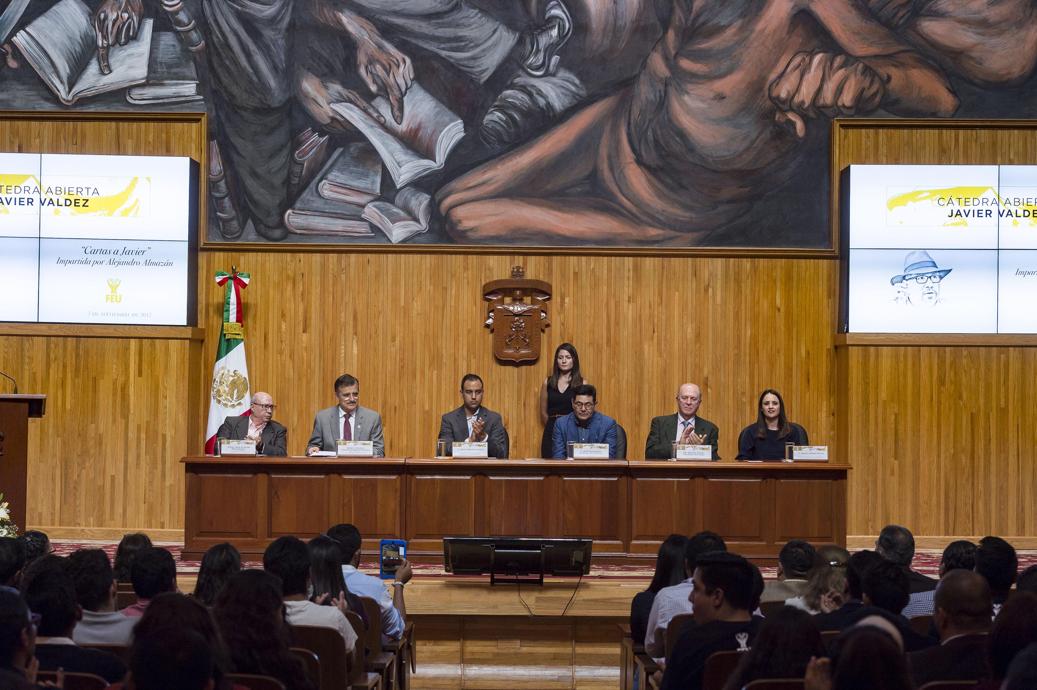 Inauguración de  cátedra en honor al periodista Javier Valdez