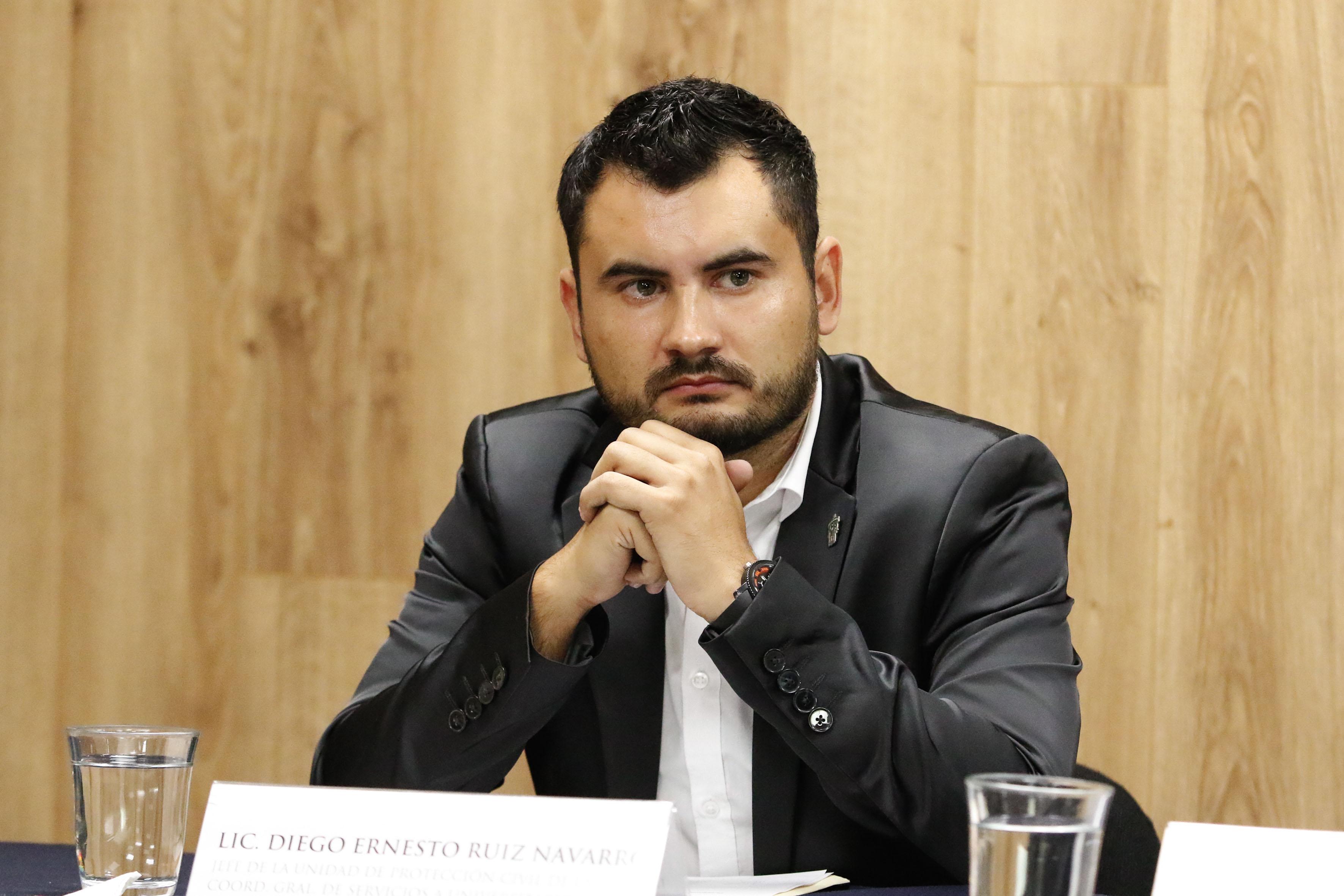 Lic Diego Ernesto Ruiz Navarro, jefe de la Unidad de Protección Civil, adscrita a la Coordinación General de Servicios a Universitarios (CGSU) de la UdeG