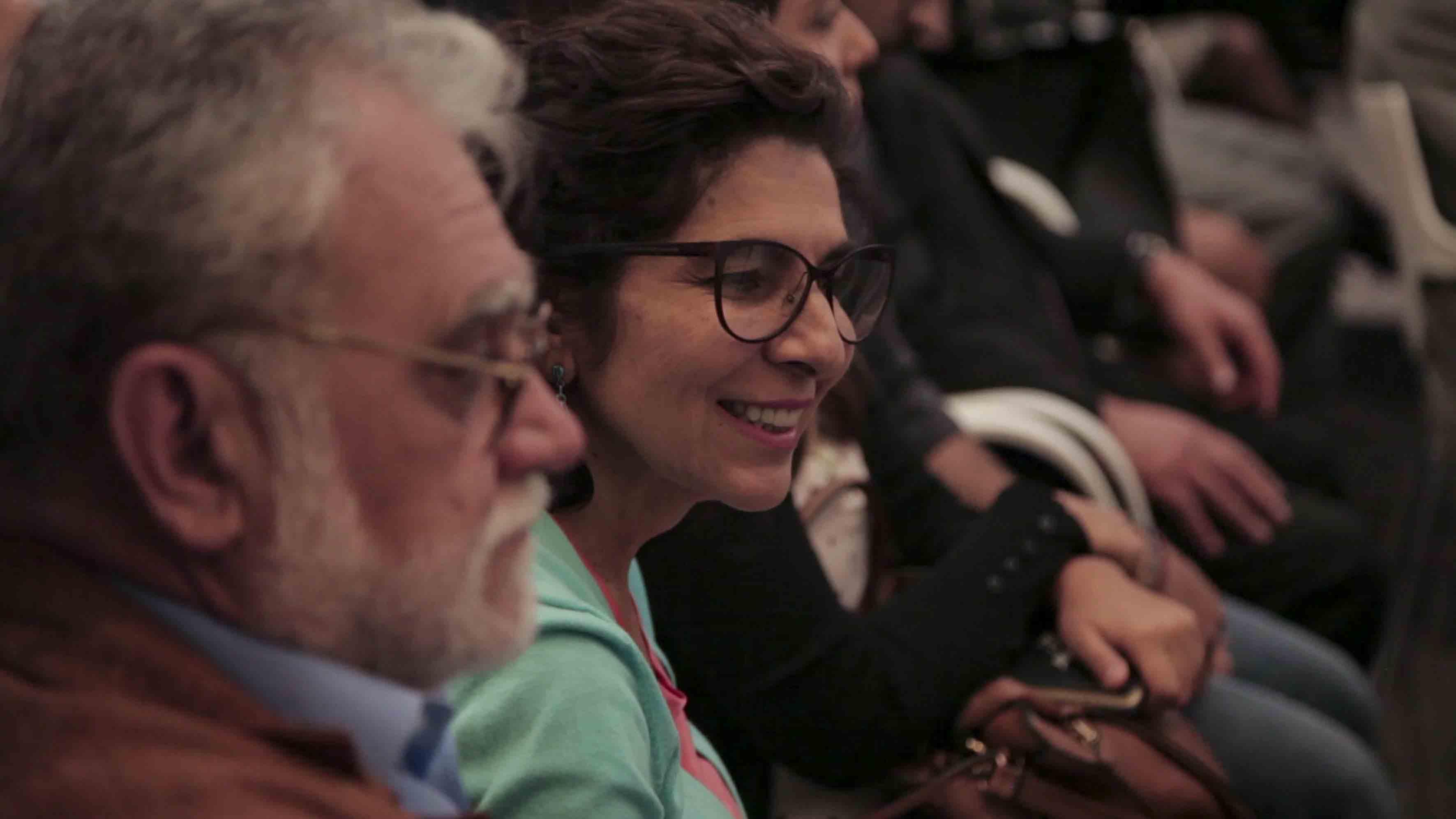Lic Laura Ayala Castellanos, directora del MUSA; participando en la Ceremonia de presentación del  Conjunto de Artes Escénicas.
