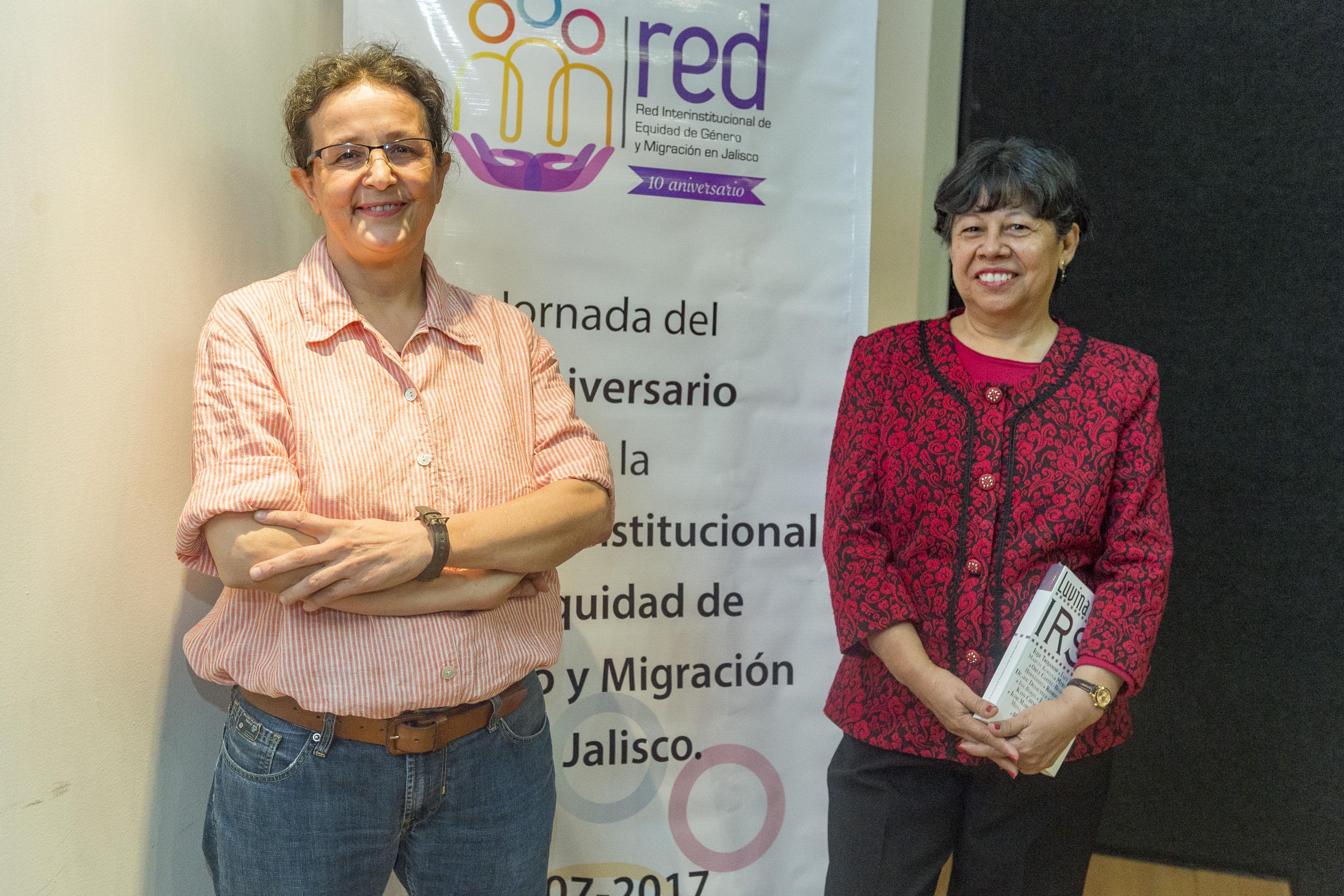 Doctora Manuela Camus Bergareche y doctora Ofelia Woo Morales, investigadoras del Departamento de Estudios Socio Urbanos del Centro Universitario de Ciencias Sociales y Humanidades de la UdeG.