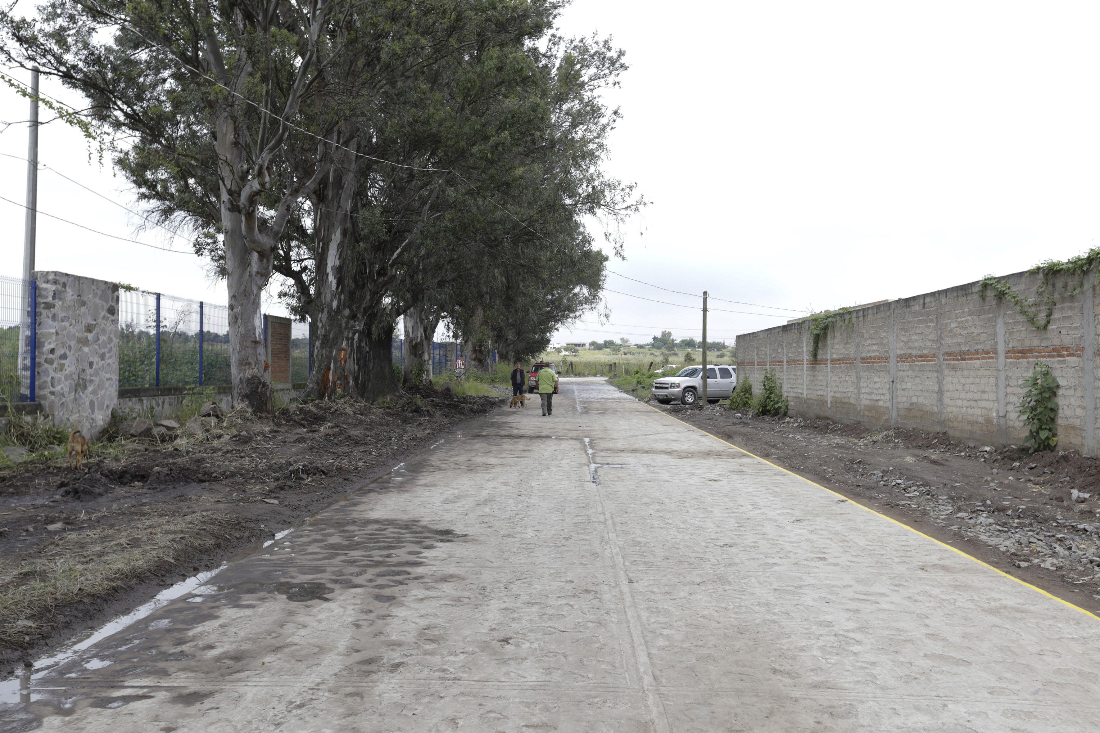 Nuevo camino de acceso al Centro Universitario de Tonalá, con una longitud de 2 kilómetros en concreto hidráulico y dos carriles de circulación.