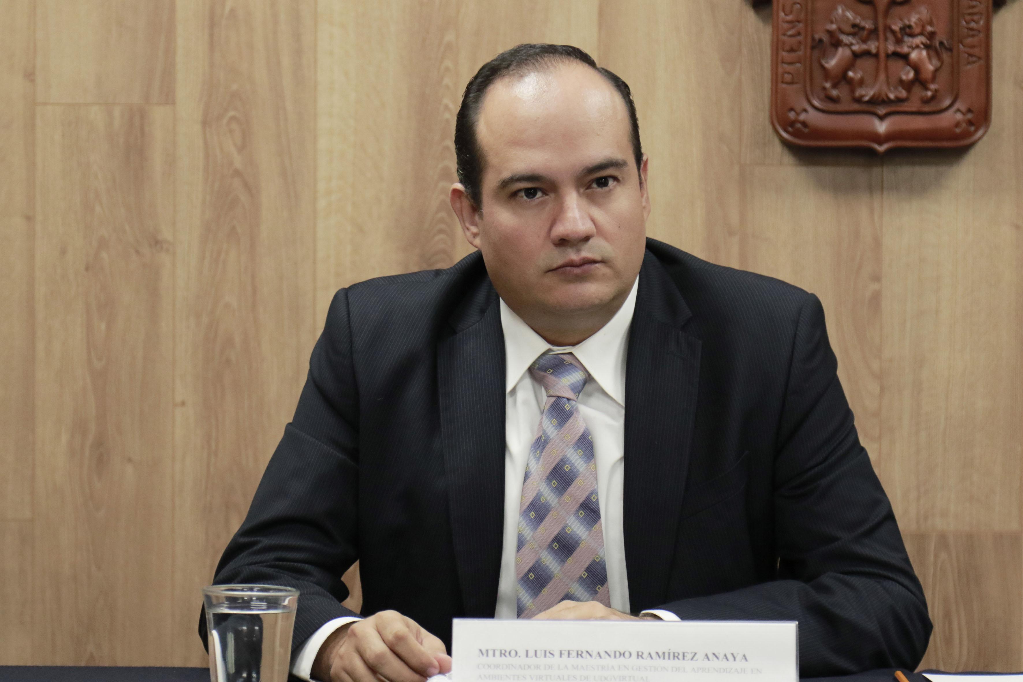 Maestro Luis Fernando Ramírez Anaya, coordinador de la maestría en Gestión del Aprendizaje en Ambientes Virtuales.