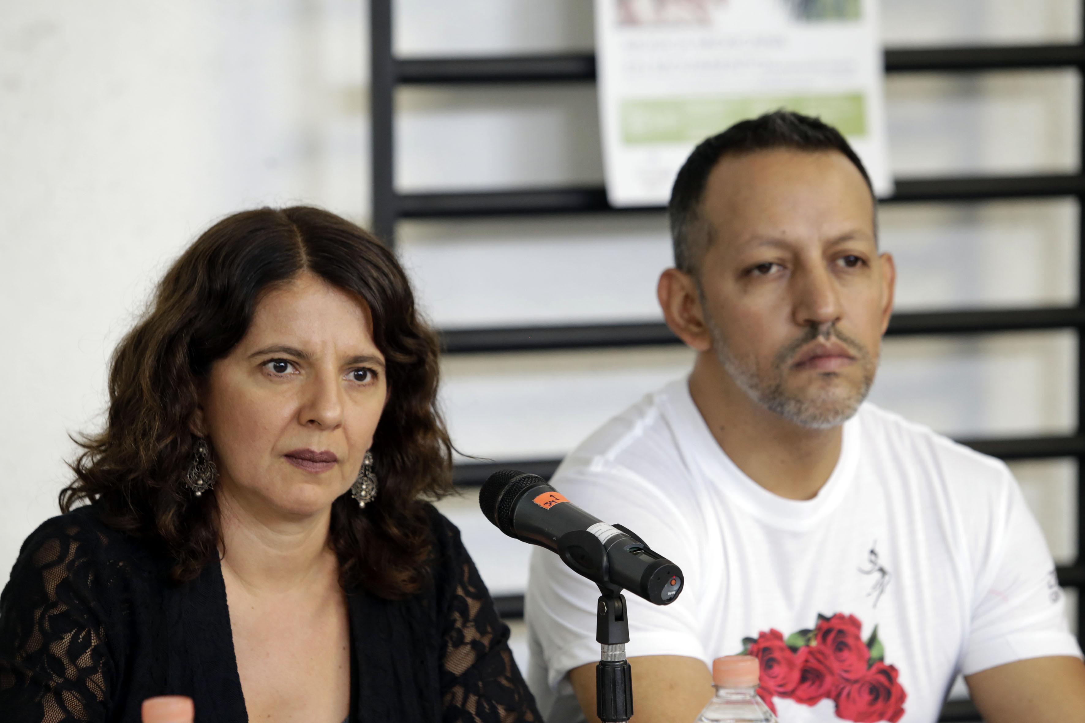 Patricia Aguirre (directora y productora de Gineceo) y Edgar Reyes (director artístico de Gineceo).