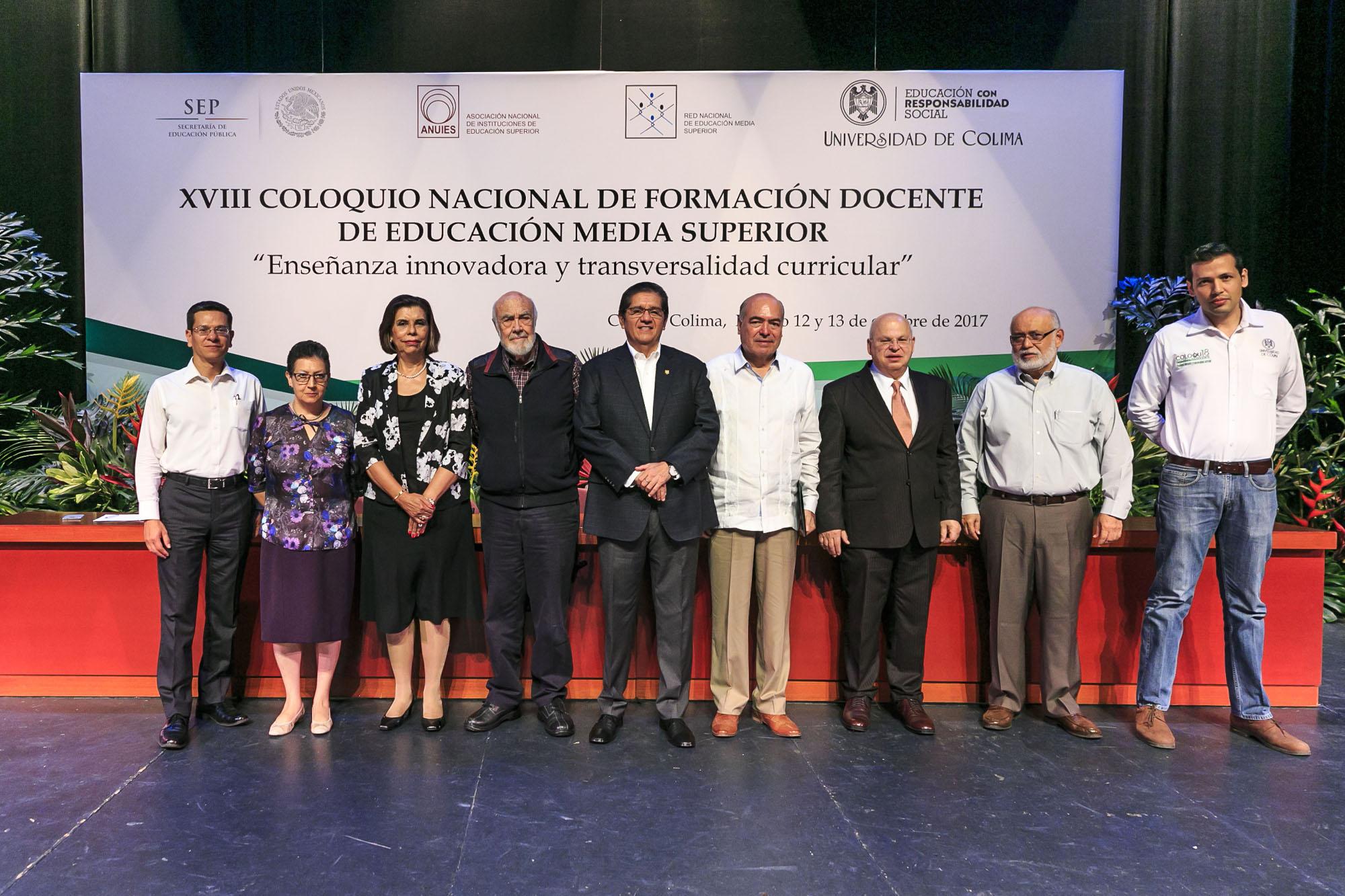 Décimo octava edición del Coloquio Nacional de Formación Docente con sede en la Universidad de Colima, donde alrededor de 80 profesores del Sistema de Educación Media Superior (SEMS) —de más de 30 preparatorias de la Universidad de Guadalajara (UdeG)