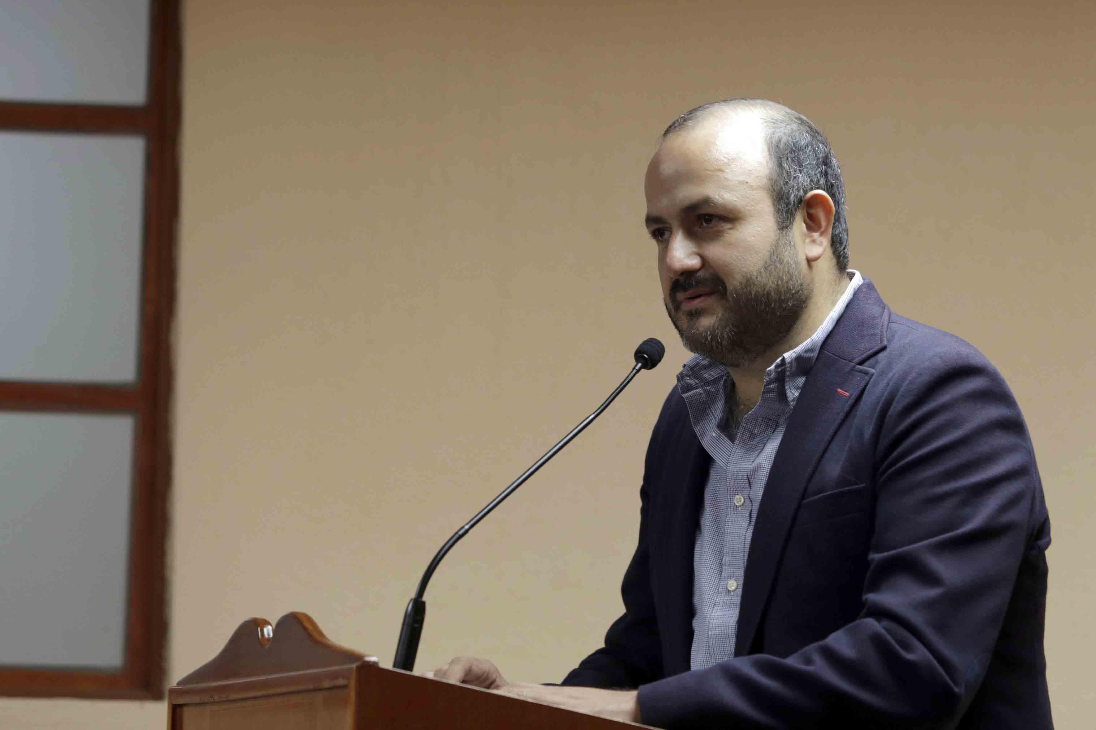 """Rector del CUTonalá, doctor Ricardo Villanueva Lomelí  impartiendo  la conferencia """"Las carreras del futuro"""""""