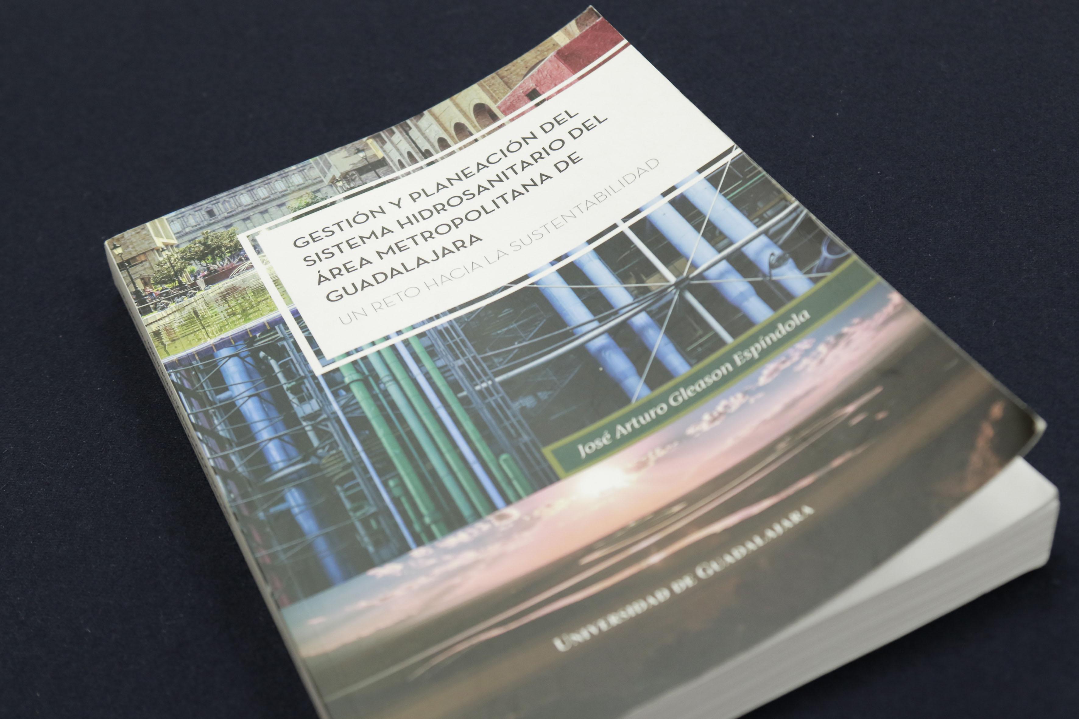 """Portada del libro """" Gestión y planeación del sistema hidrosanitario del área metropolitana de Guadalajara"""""""