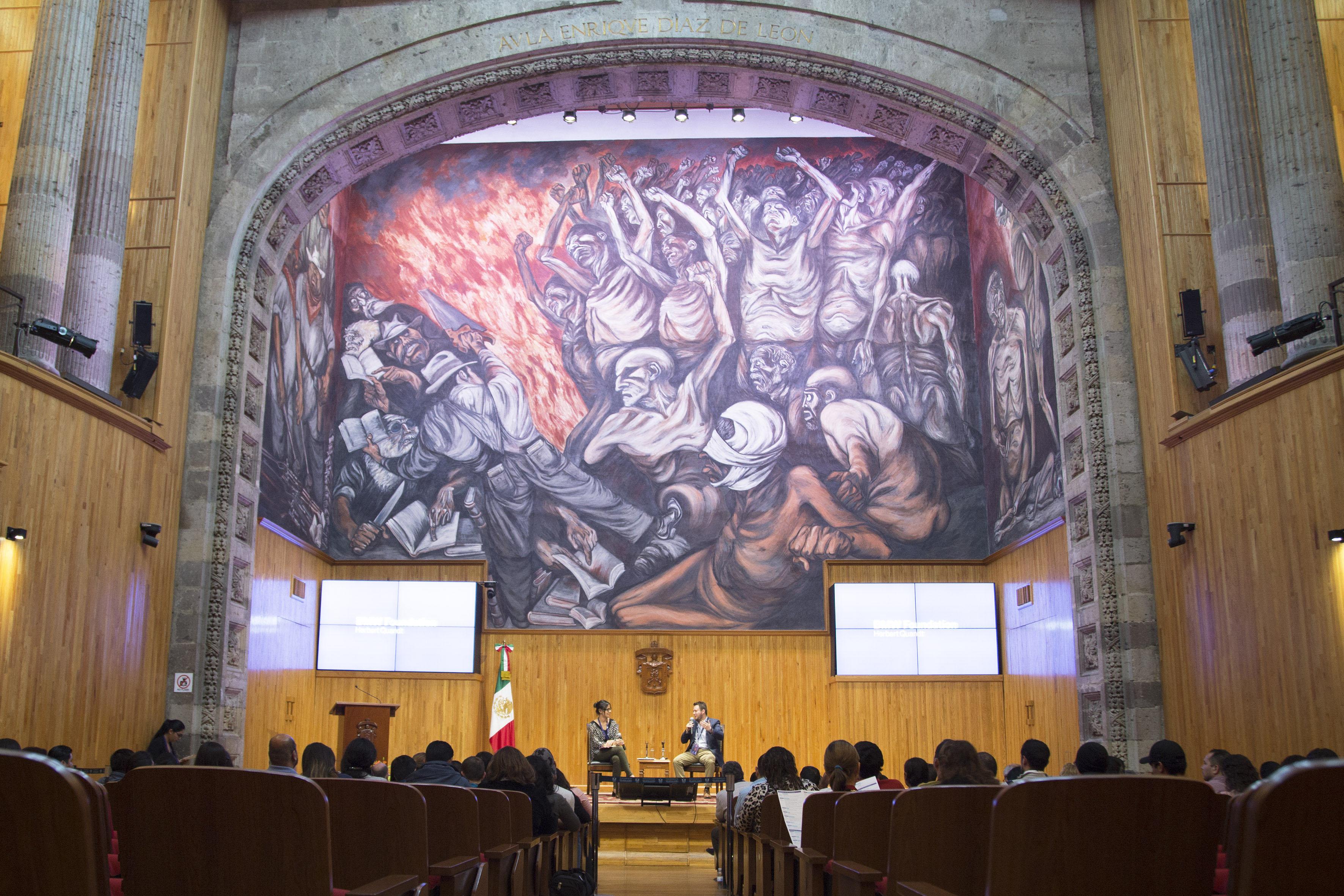Charla de apertura del III Encuentro Latinoamericano de Innovación Social desde el Sector Público (ELIS), llevado a cabo en el Paraninfo Enrique Díaz de Léon.