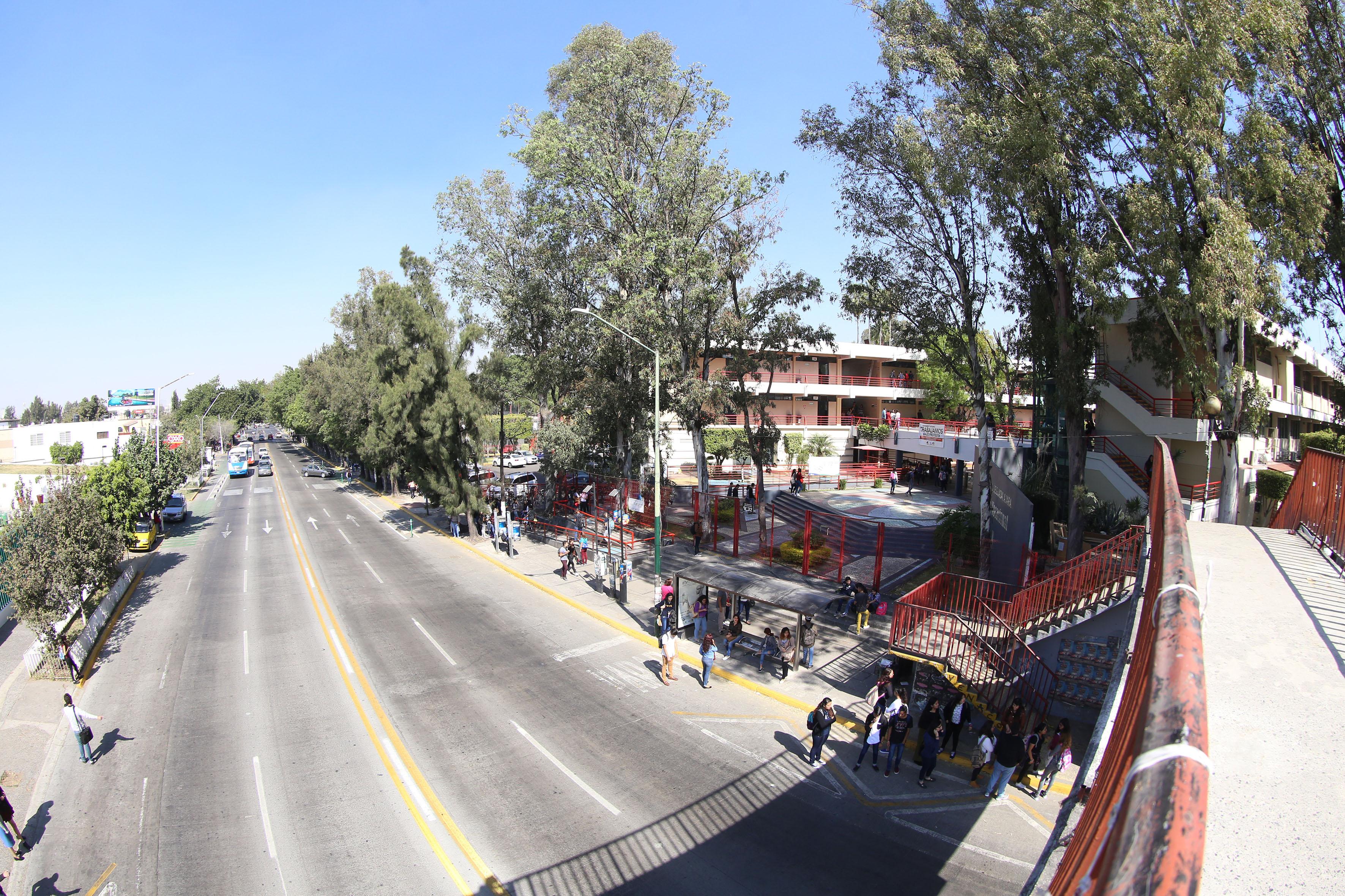 Vista aérea de la escuela Preparatoria Vocaional de Guadalajara