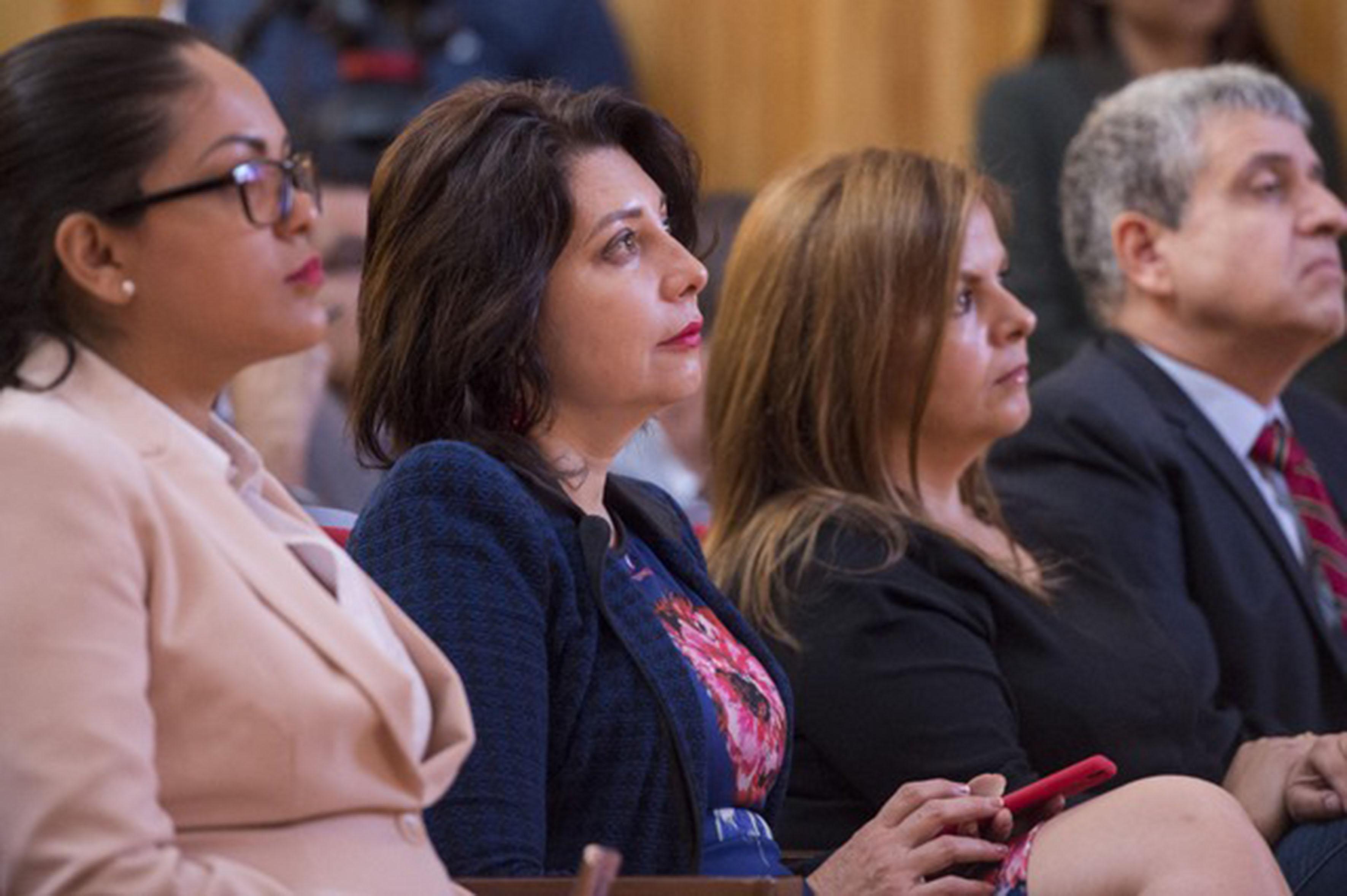 Dra Carmen Rodriguez Amenta participando en la mesa de dialogo