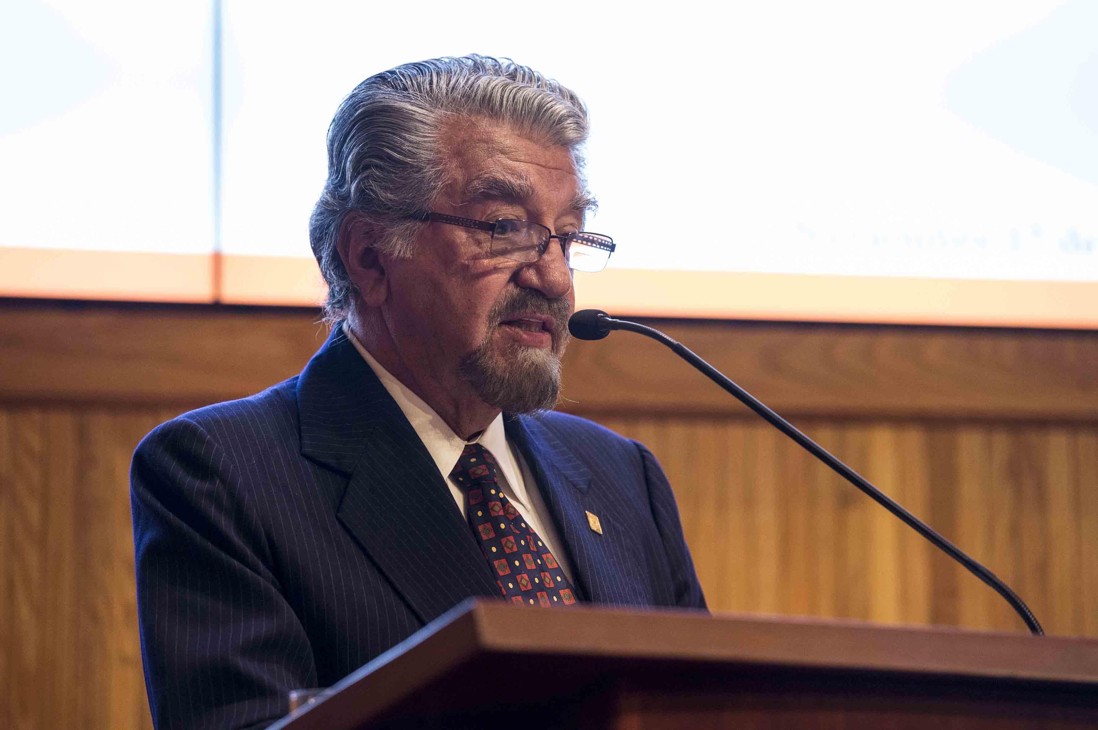 Ingeniero Juan Armando Duarte Alonso, presidente de la Generación, haciendo uso de la palabra