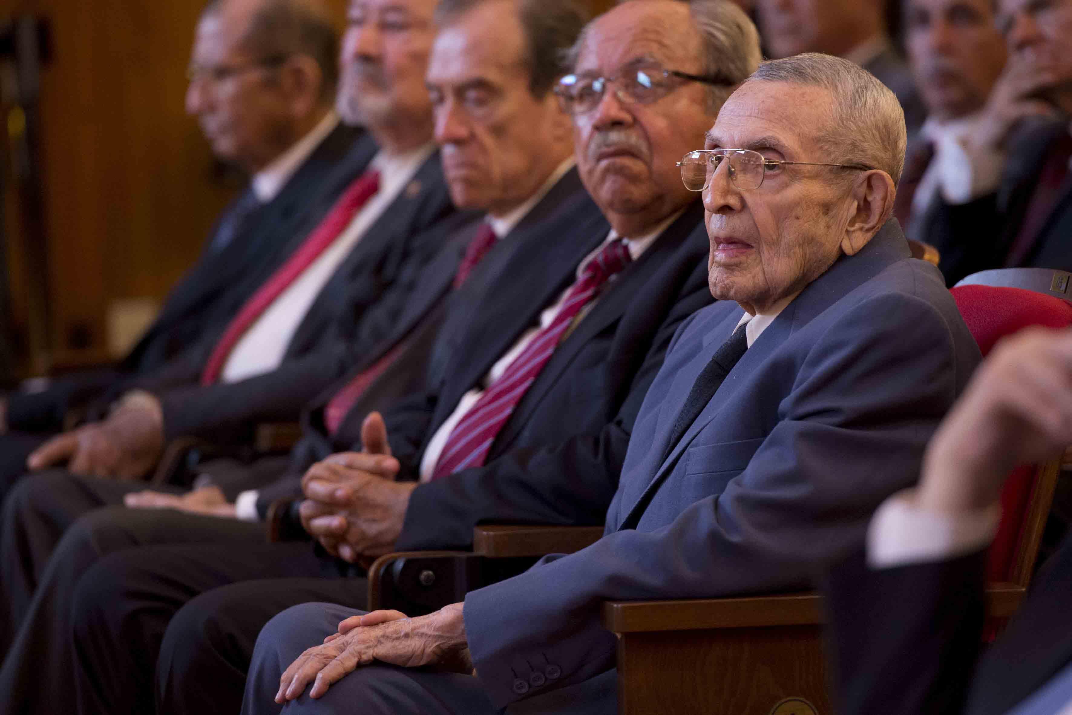 Integrantes de esta generación, presentes en la ceremonia  de 50 años de La Generación 1962-1967 de Ingenieros Civiles de la UdeG