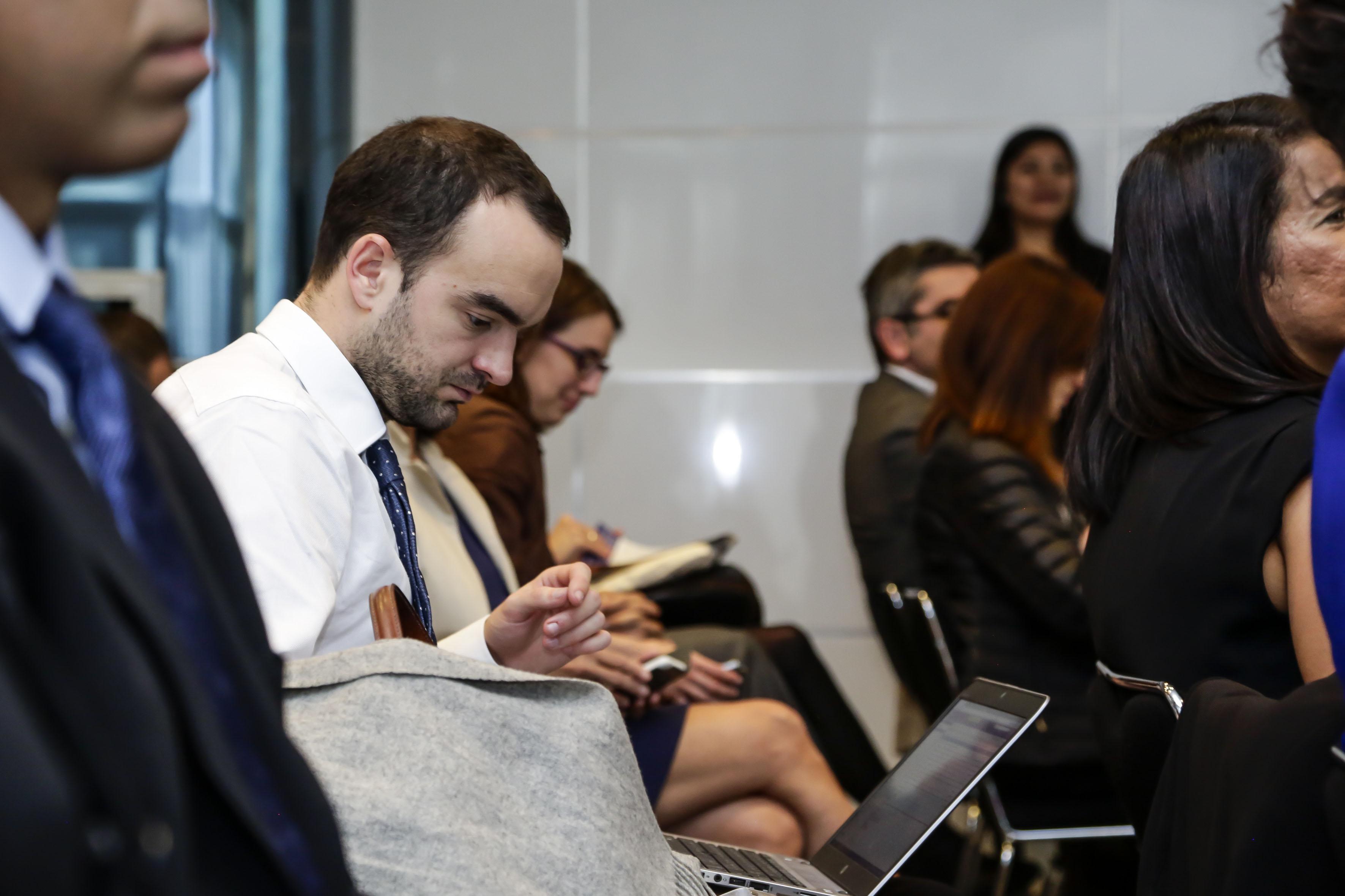 Publico asistente a la inauguración del  Seminario Franco-Mexicano de Cooperación Universitaria e Innovación