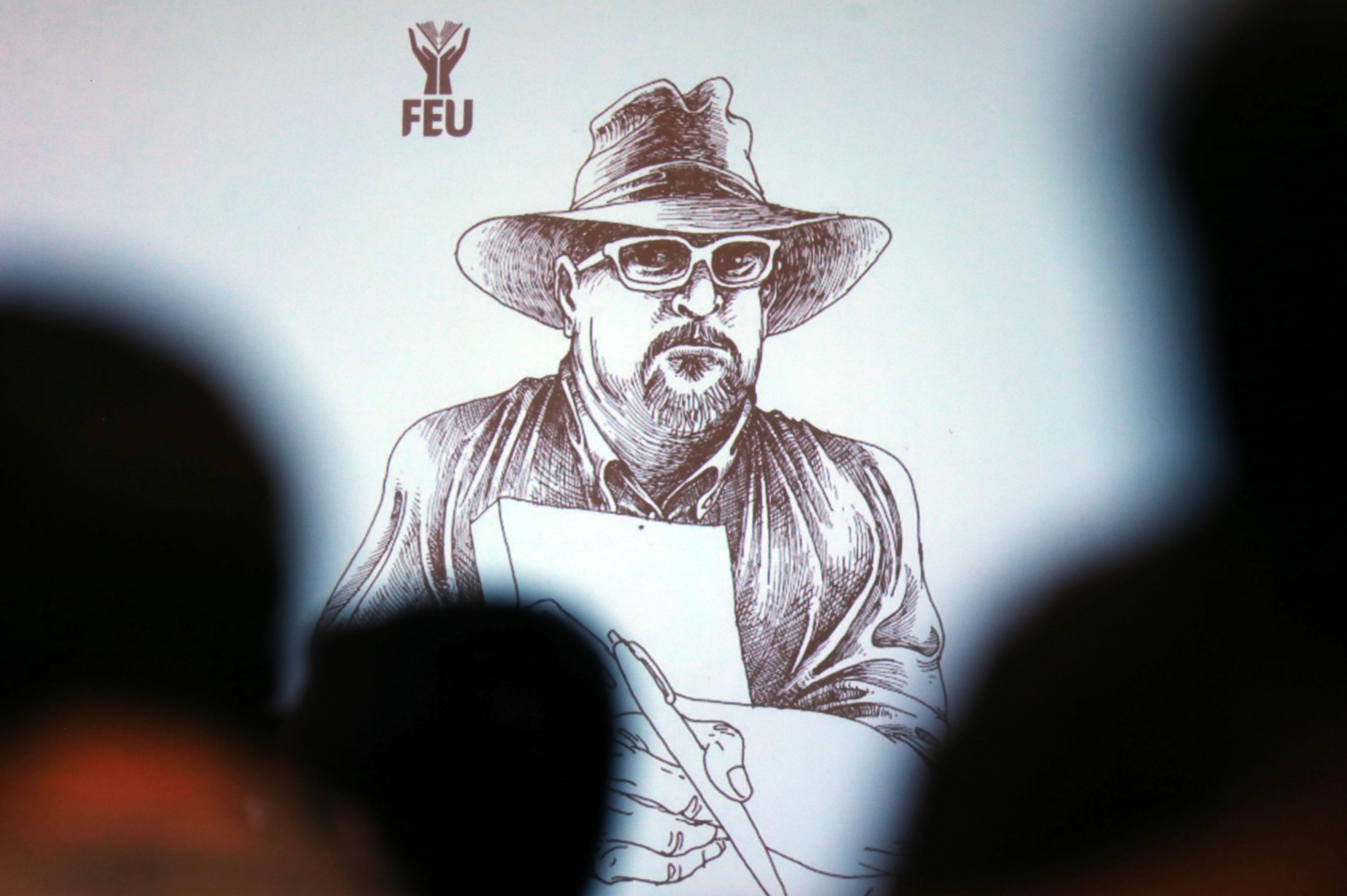 Ilustración del periodista asesinado Javier Valdez Cárdenas.