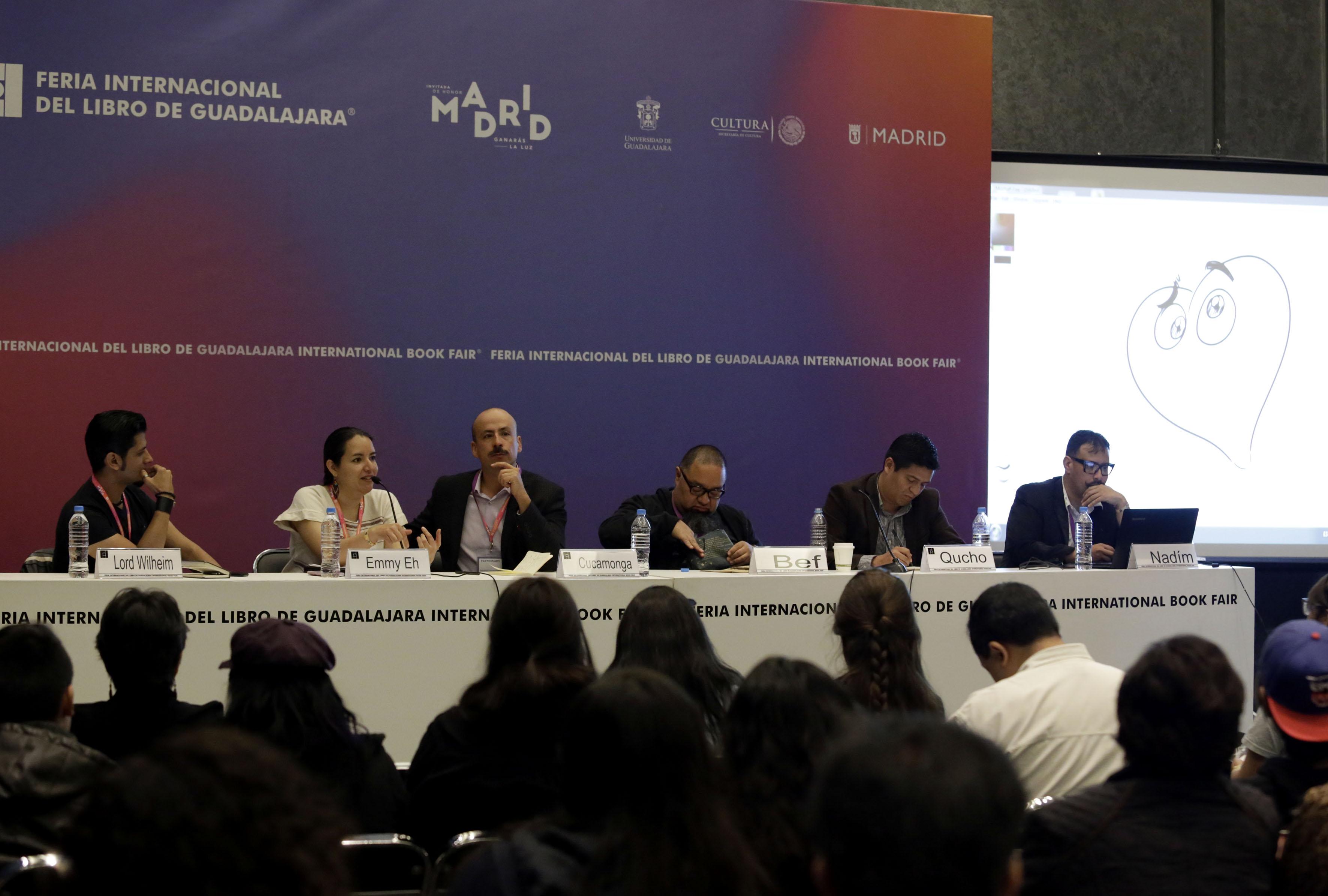 Ceremonia Inaugural del 16º Encuentro Internacional de Caricatura e Historieta, en el marco de la Feria Internacional del Libro de Guadalajara