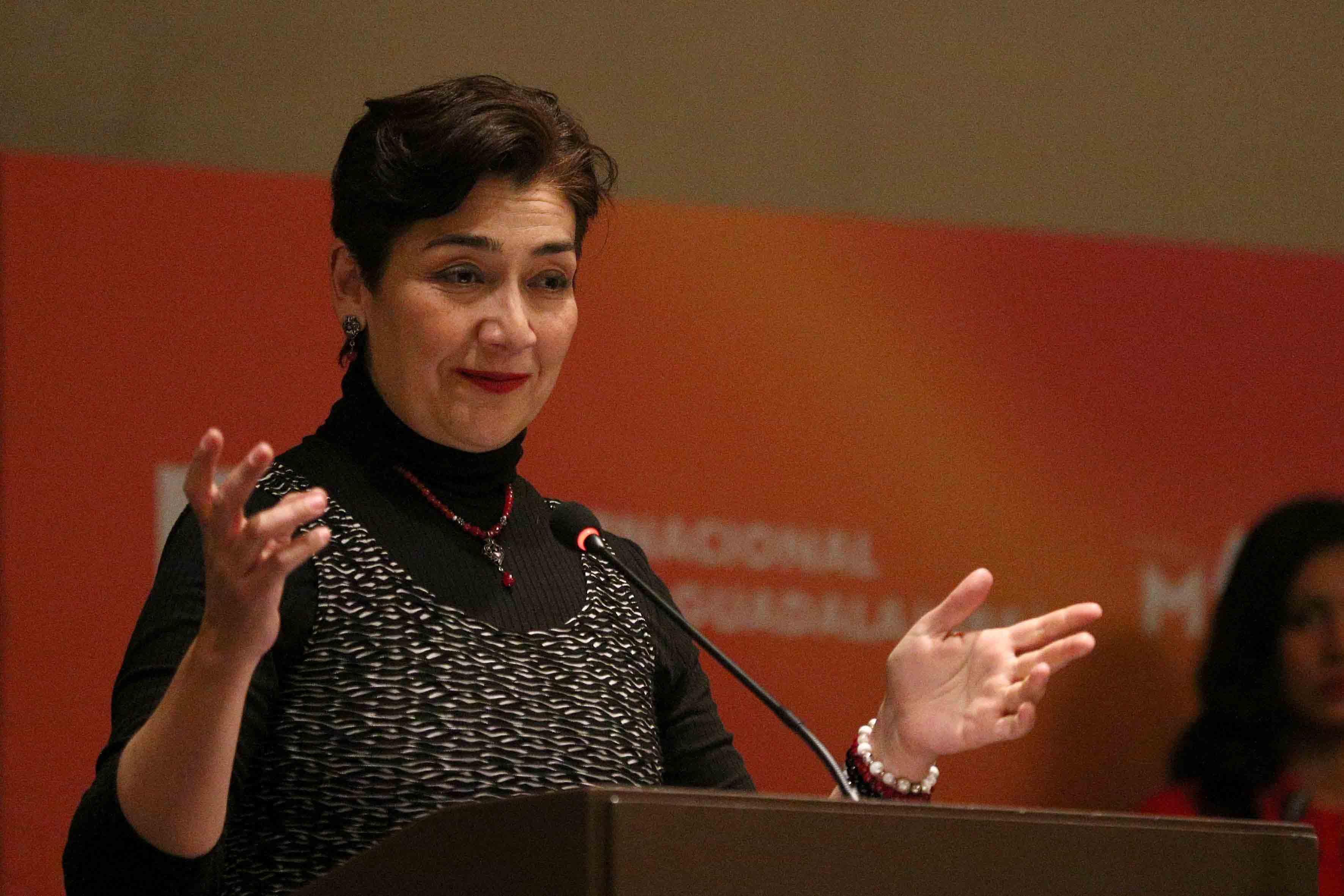 Bióloga María Magdalena Ruiz Mejía, Secretaria de Medio Ambiente y Desarrollo Territorial de Jalisco, haciendo uso de la palabra.