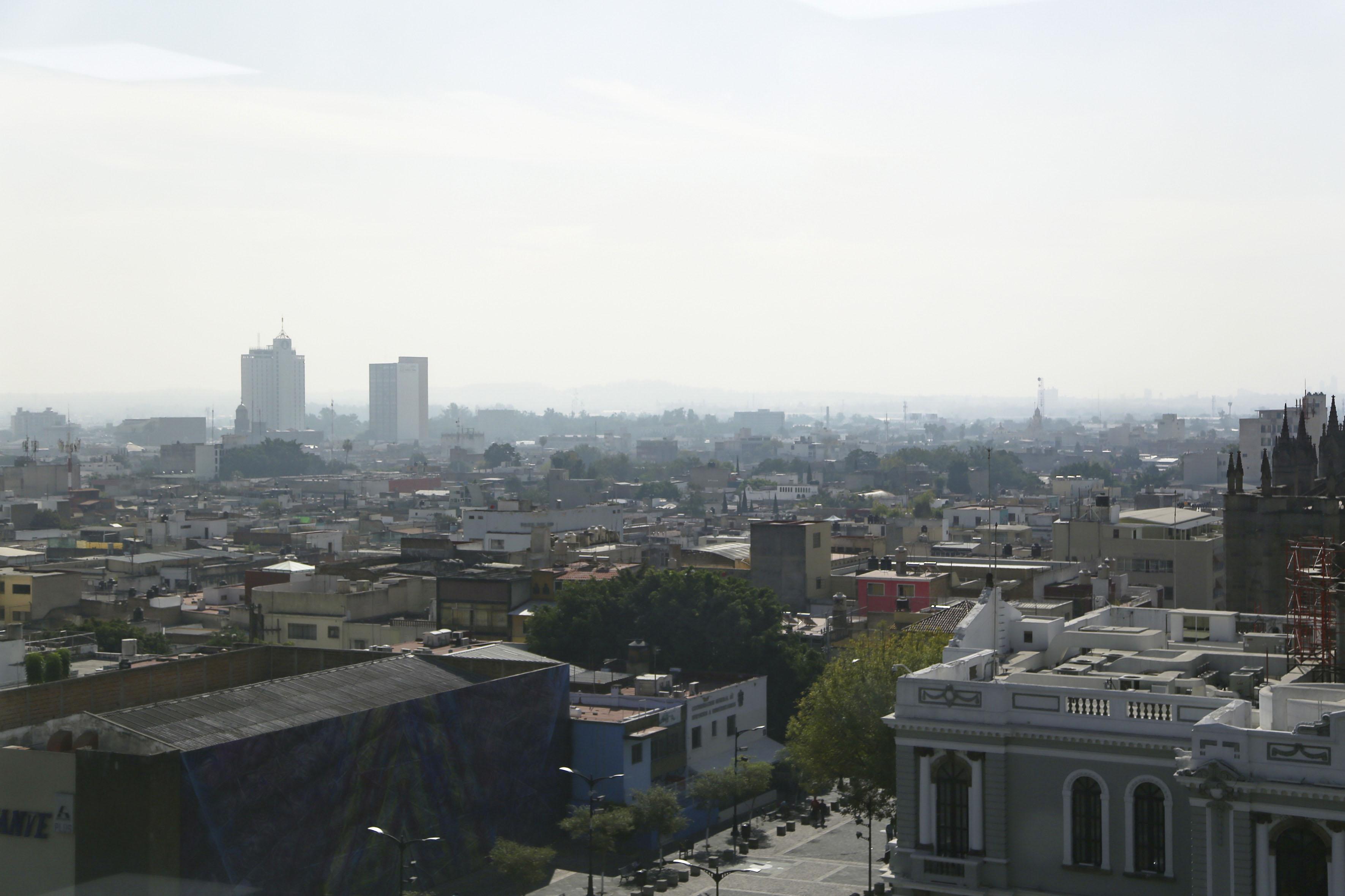 Fotografía panorámica de la ciudad de Guadalajara