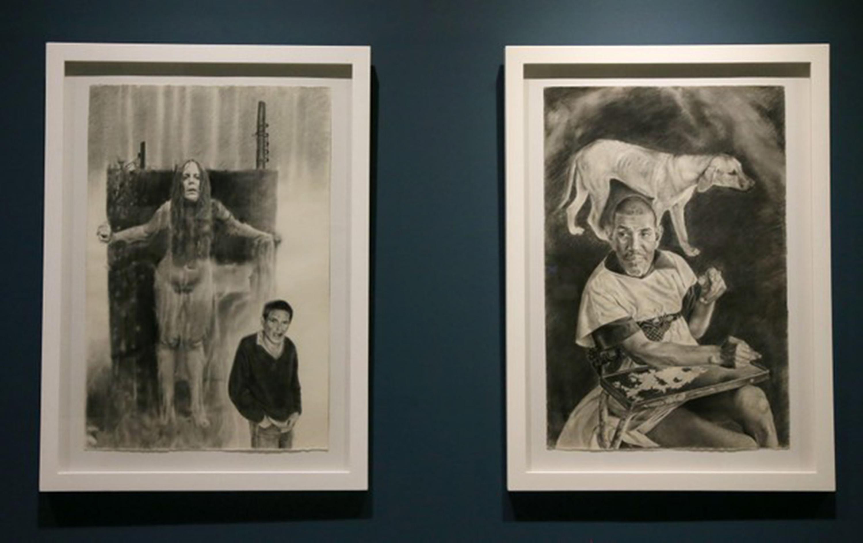 """Sala del Museo de las Artes (MUSA), con exhibición de la obra """"Crónica de un instante"""""""