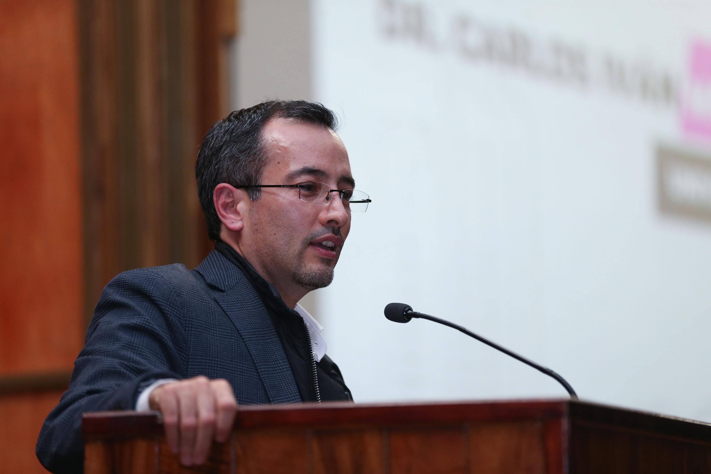 Doctor Carlos Iván Moreno Arellano, Coordinador General de Cooperación e Internacionalización de la UdeG, haciendo uso de la palabra
