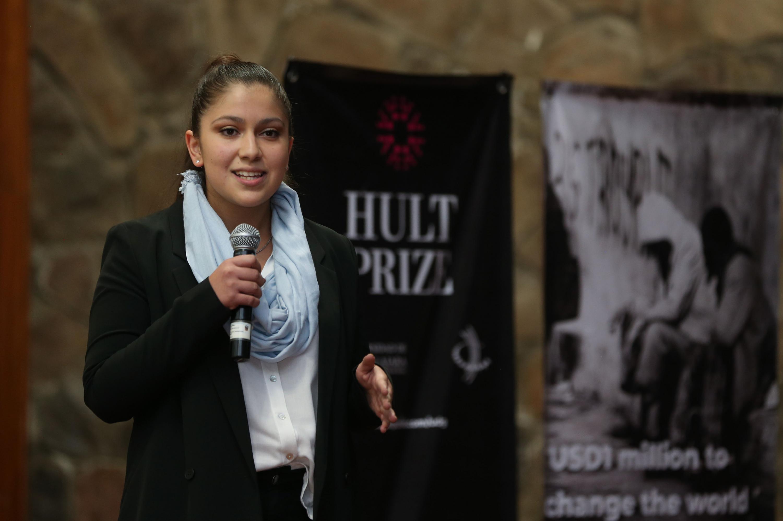 Juliet García Zepeda, estudiante del Centro Universitario de Ciencias Económico Administrativas y miembro del Comité organizador de la edición 2018