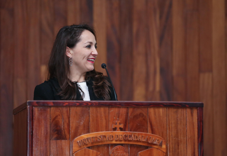 Maestra Nadia Paola Mireles Torres, Coordinadora de Relaciones Institucionales de la Universidad de Guadalajara
