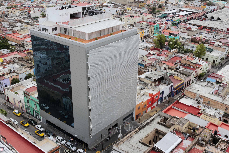 Foto aérea del edificio del SEMS