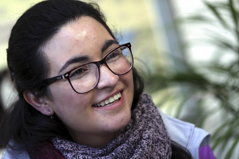 Laura Alejandra Torres Ascencio, jóven con mejor promedio en examen de admisión para la licenciatura.