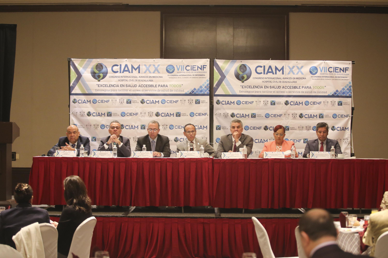 Rueda de prensa para dar a conocer el XX Congreso Internacional Avances en Medicina (CIAM) 2018