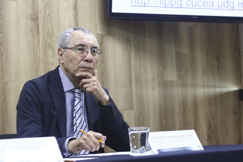 Doctor Luis F. Aguilar Villanueva, Director del Instituto de Investigación en Políticas Públicas y Gobierno del Centro Universitario de Ciencias Económico Administrativas.