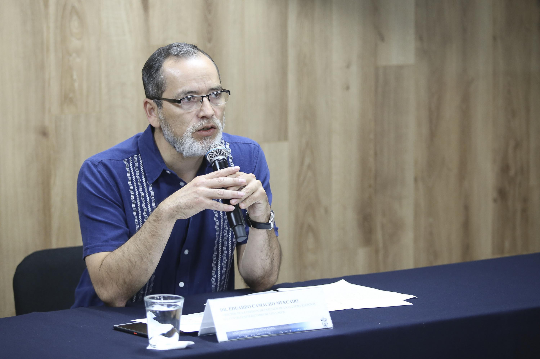 Doctor Eduardo Camacho Mercado, director de la División de Estudios de la Cultura Regional del Centro Universitario de los Lagos.