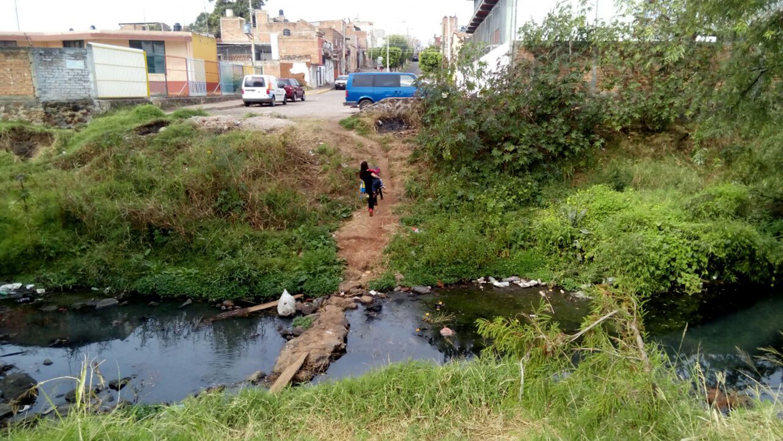 Comunidad colindante con el río Tepatitlán.