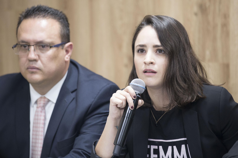 Gomez Rueda habló al microfono No queremos sea una cifra más de feminicidio