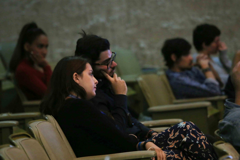 Público asistente al Laboratorio de Documentales en el marco del Festival Internacional de Cine en Guadalajara 2018.