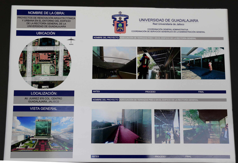 Poster en donde se detallan las obras realizadas