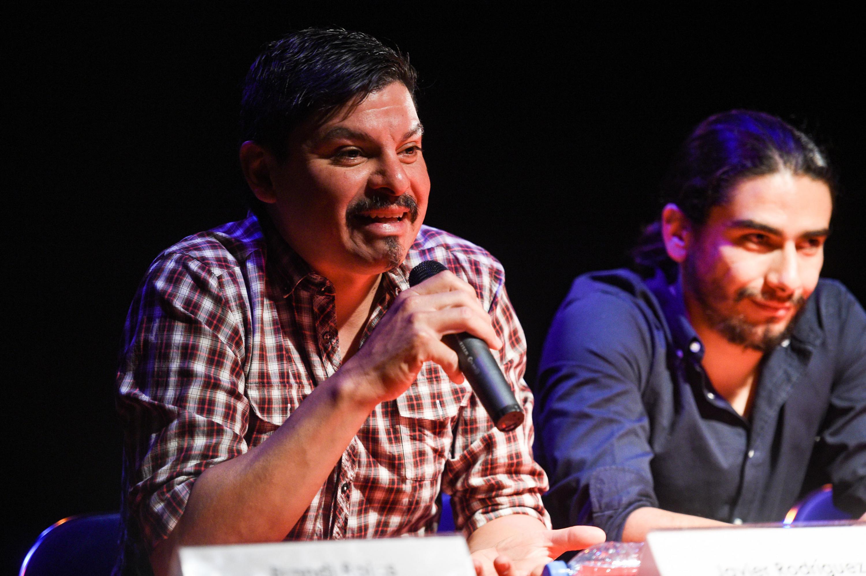 Javier Rodríguez, Productor Vooyeur 2.0, haciendo uso de la palabra.