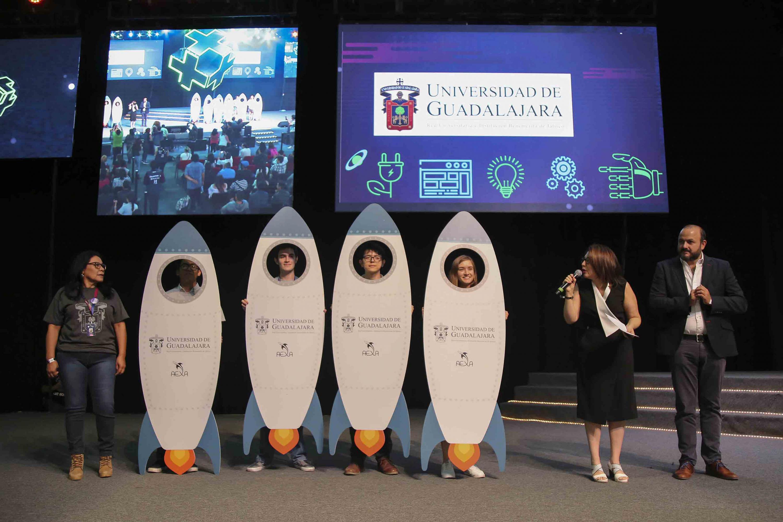 Ganadores de los retos Blockchain, Eureka y UdeG- AEXA fueron dados a conocer por la vicerrectora ejecutiva de la UdeG, la doctora Carmen Enedina Rodríguez Armenta