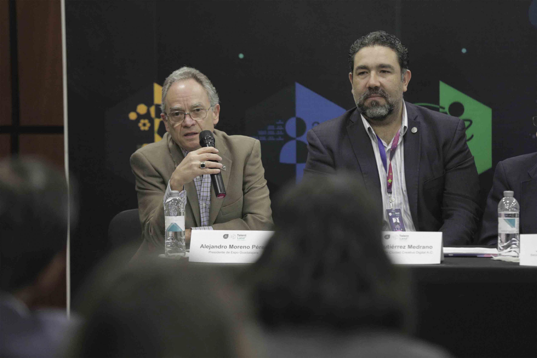 Alejandro Moreno Perez, presidente de la expo Guadalajara, haciendo uso de la palabra durante rueda de prensa