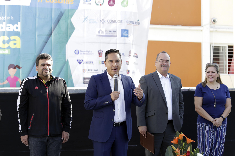 Titular del Consejo Estatal para el Fomento Deportivo (Code), licenciado André Marx Miranda Campos
