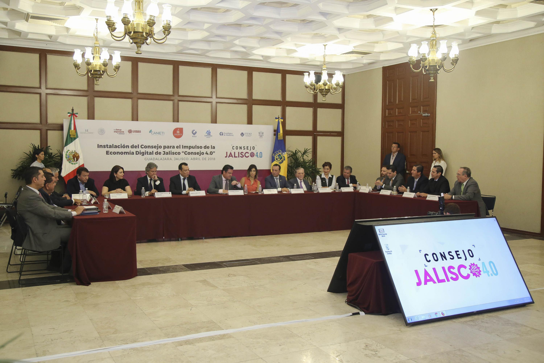 Reunión del Consejo para el Impulso de la Economía Digital de Jalisco -Consejo 4.0-, acto celebrado en las instalaciones de Casa Jalisco.