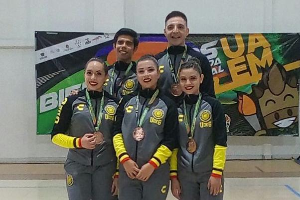 Estudiantes de la Universidad de Guadalajara, obtuvieron medalla de bronce, en Gimnasia Aeróbica, modalidad Aerodance.