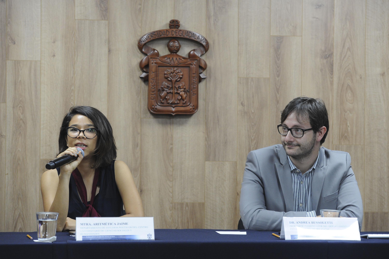 Rueda de prensa convocada por académicos del Centro Universitario de Ciencias Sociales y Humanidades (CUCSH), para presentar los resultados del Observatorio del Proceso Electoral.