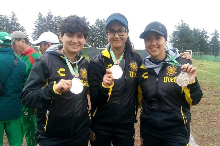 Tres alumnas de la UDG que ganaron medalla en la UNIVERSIADA NACIONAL