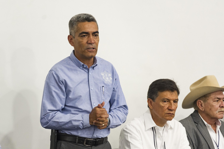 Especialista de la Universidad de Guadalajara y miembro del presídium, haciendo uso de la voz.