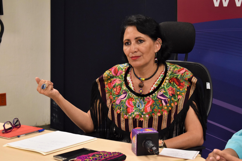 Doctora Guadalupe Ramos Ponce, investigadora de la Universidad de Guadalajara, impartiendo videoconferencia.
