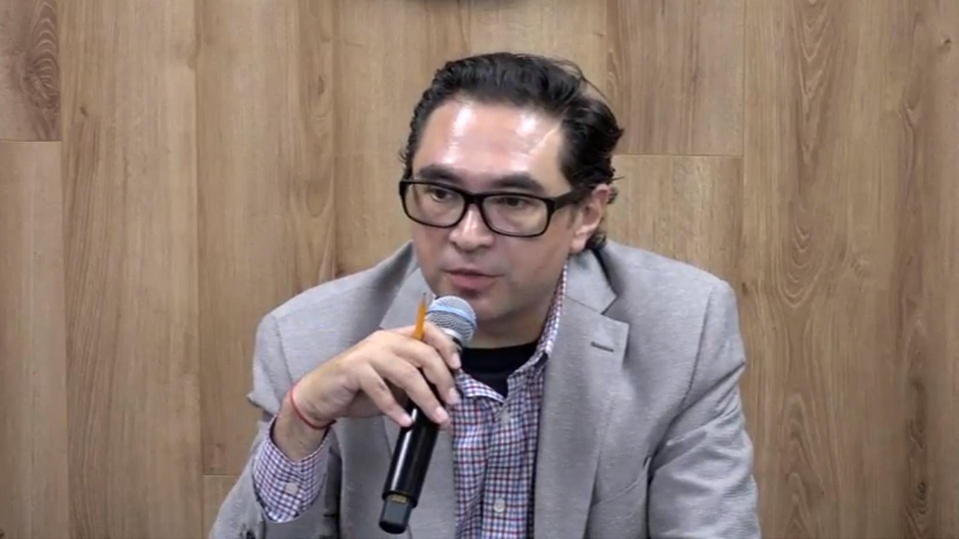 Jefe del Departamento de Sociología, del Centro Universitario de Ciencias Sociales y Humanidades (CUCSH) de esta Casa de Estudio, doctor José Igor Israel González Aguirre, haciendo uso de la palabra