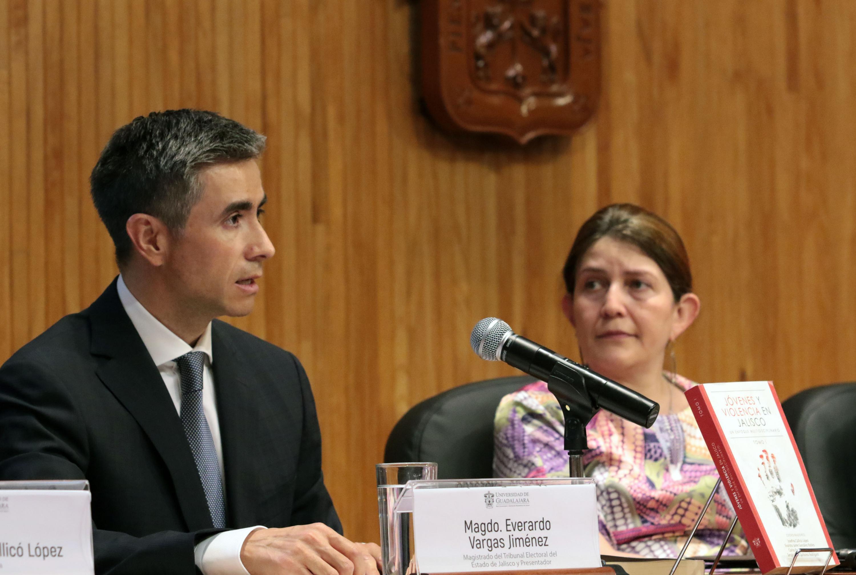 Magistrado Everardo Vargas Jiménez, Presidente del Tribunal Electoral del Estado de Jalisco; haciendo uso de la palabra.