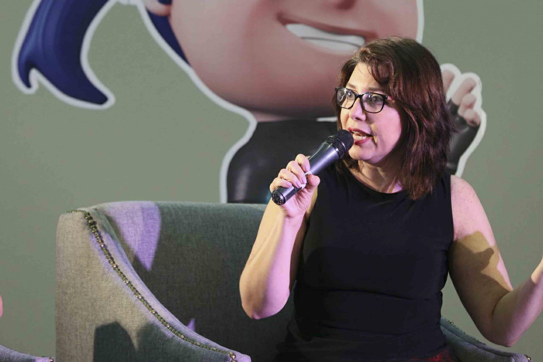Doctora Carmen Rodríguez Armenta, Vicerrectora Ejecutiva de la Universidad de Guadalajara, participando en el panel.