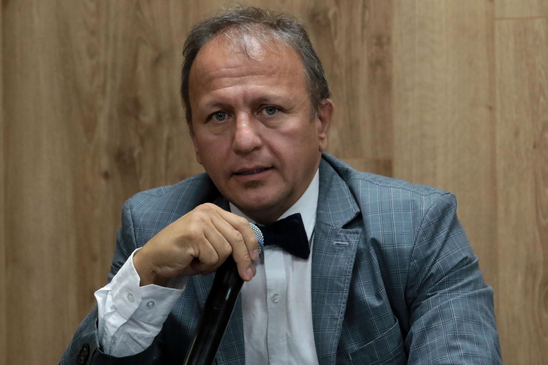 Doctor Rogelio Barba Álvarez, coordinador de la Licenciatura en Criminalística del Centro Universitario de Ciencias Sociales y Humanidades (CUCSH), haciendo uso de la palabra.