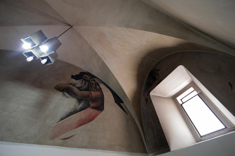 """Otro detalle de los murales de Biblioteca Iberoamericana """"Octavio Paz"""""""