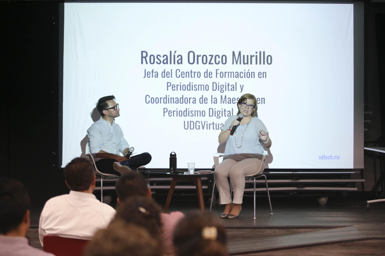 Rosalía Orozco Murillo  es  Jefa del Centro de Formación en Periodismo Digital de UDGVirtual