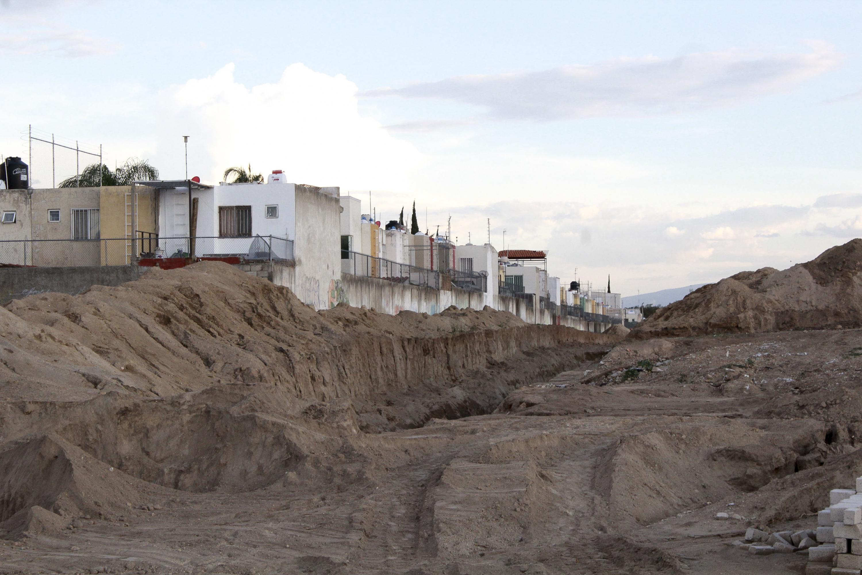 La colonia La Martinica de Zapopan Jalisco afectada por los deslaves del arroyo Hondo